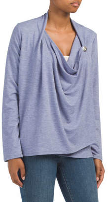 French Terry Shawl Cardigan Button