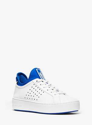 Michael Kors Ace Leather And Scuba Sneaker