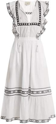 Sea Amelie lace-trimmed ruffled cotton dress