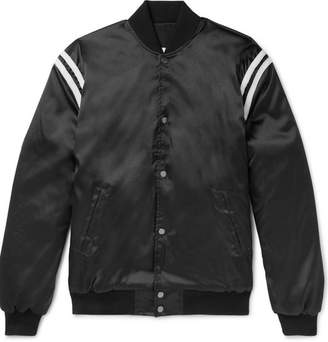 Rhude Appliquéd Satin Bomber Jacket