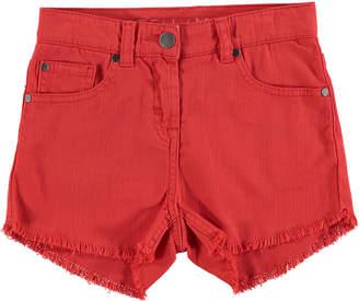 Stella McCartney High Waist Fringe Shorts, Size 4-14