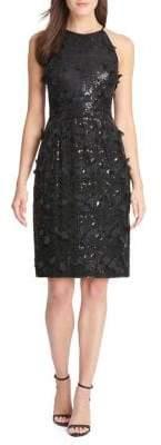 Eliza J Sequined Halter Dress
