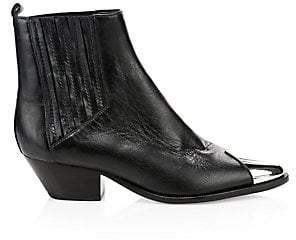 Schutz Women's Luccyen Ribbed Leather Booties