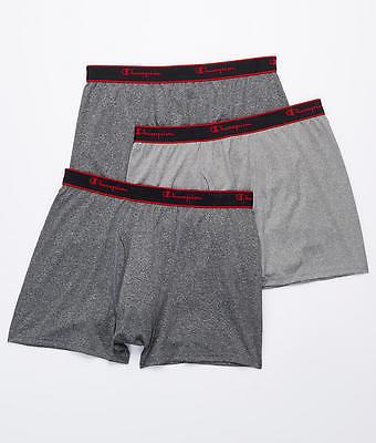 Champion Active Performance Short Leg Boxer Brief 3-Pack Underwear, Activewear