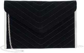 La Regale Lenore By Lenore by Chevron Quilted Envelope Clutch