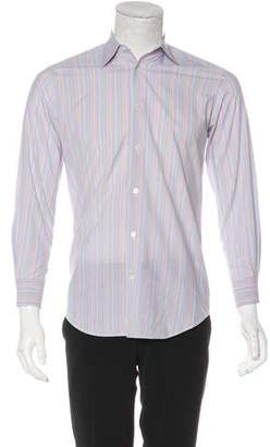 Hermes Striped Woven Dress Shirt