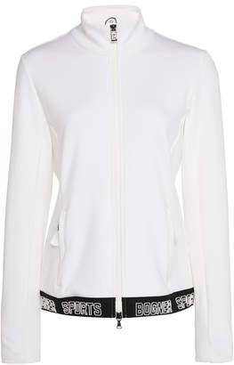 Bogner Heather Printed Stretch-Jersey Jacket Size: XS