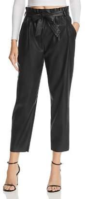 Aqua LUXE Capsule Faux Leather Paperbag-Waist Pants - 100% Exclusive