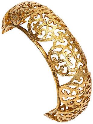 One Kings Lane Vintage Chanel Goldtone Perforated Bangle - Vintage Lux