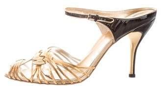 Gucci Metallic Slide Sandals