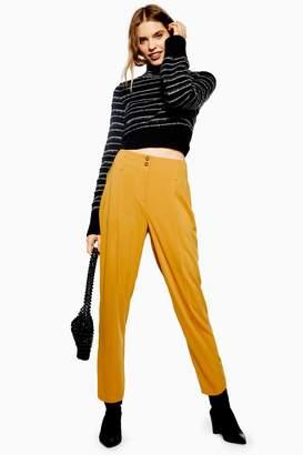 Topshop Womens Button Peg Trousers - Ochre