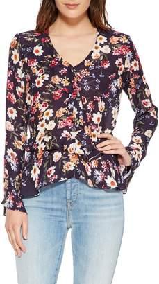 Parker Nova Floral Silk Blend Blouse