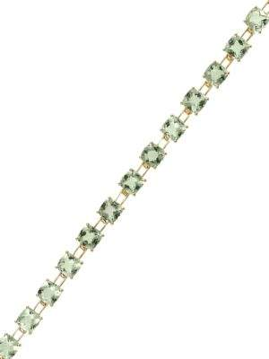 Effy Green Amethyst and 14K Yellow Gold Tennis Bracelet
