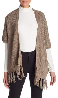 Molly Bracken Tassel Trimmed Metallic Cardigan