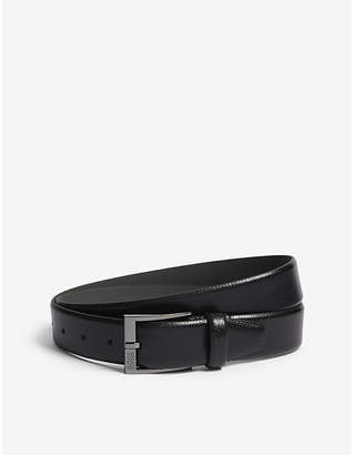 BOSS Grained leather belt