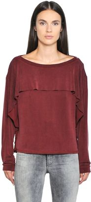 Ruffled Cupro Top $148 thestylecure.com