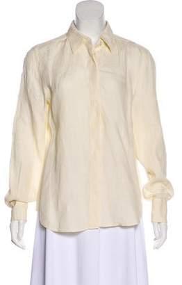 Max Mara Button-Up Linen Top