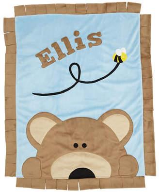 Boogie Baby Personalized Peek-a-Boo Bear Plush Blanket, Brown