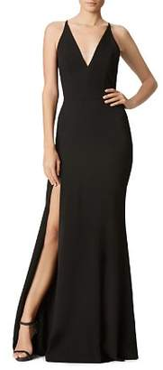 Dress the Population Iris Plunging Fluted Gown