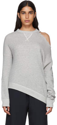 R 13 Grey Distorted Sweatshirt