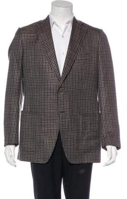 Tom Ford Wool & Linen Gingham Sport Coat