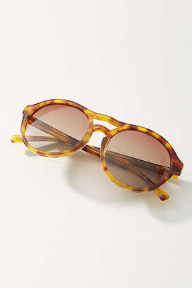 Pilgrim Tortoise Rounded Sunglasses