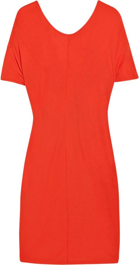 Acne Niki cutout stretch-crepe dress