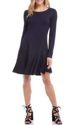 Karen Kane Dakota Ruffle Hem A-Line Dress