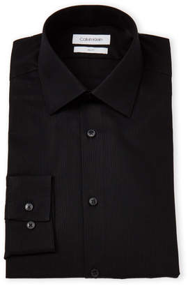 Calvin Klein Black Stripe Slim Fit Dress Shirt