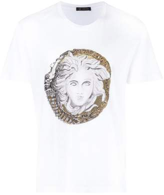 Versace Medusa embroidered T-shirt