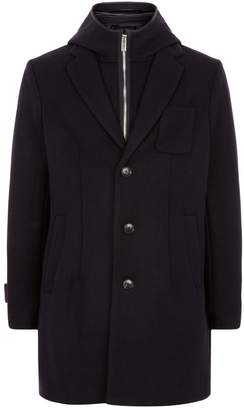 Emporio Armani Hooded Insert Wool Coat