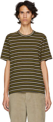 Marni Yellow and Grey Striped T-Shirt