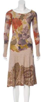 Etro Wool Printed Dress w/ Tags
