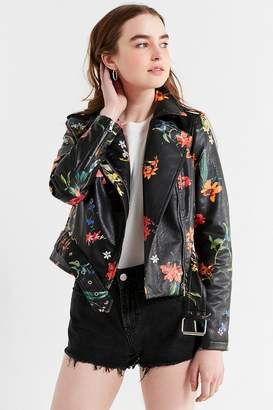 Urban Outfitters Floral Moto Jacket