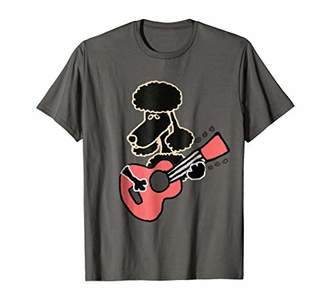 Smiletodaytees Funny Poodle Dog Playing Guitar T-shirt