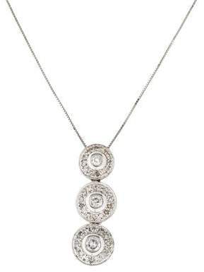 14K Diamond Triple Drop Pendant Necklace