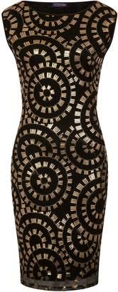 Next Womens HotSquash Gold Circles Sleeveless Sequin Dress