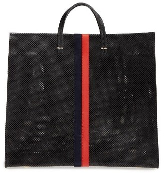 Clare V. Simple Perforated Leather Tote - Black $495 thestylecure.com