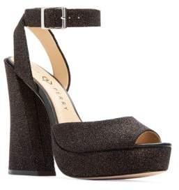Katy Perry Maggie Embossed Block-Heel Sandals