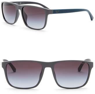 Emporio Armani 59mm Rectangle Acetate Frame Sunglasses