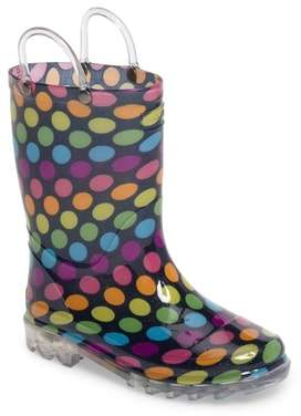 Western Chief Darling Dot Light-Up Rain Boot