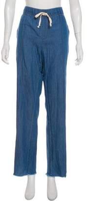 Enza Costa High-Rise Wide-Leg Pants