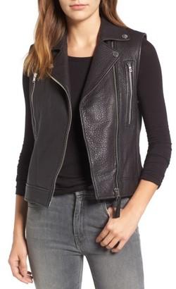 Women's Derek Lam 10 Crosby Leather Moto Vest $695 thestylecure.com