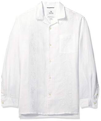 67910036 at Amazon.co.uk · 28 Palms Relaxed-fit Long-Sleeve 100% Linen Embroidered  Guayabera Shirt Button,