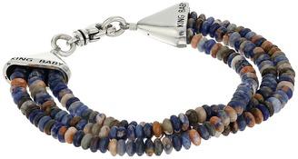 King Baby Studio - Triple Strand Orange Sodalite Bead Bracelet w/ Cone Clasp Bracelet $275 thestylecure.com