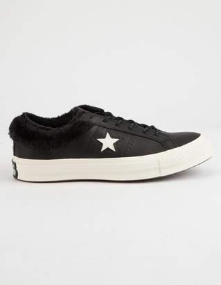 Converse One Star Ox Fur Black Womens Shoes