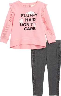 Kate Spade Fluffy Hair Sweatshirt & Leggings Set