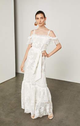 BCBGMAXAZRIA Off-The-Shoulder Floral Maxi Dress
