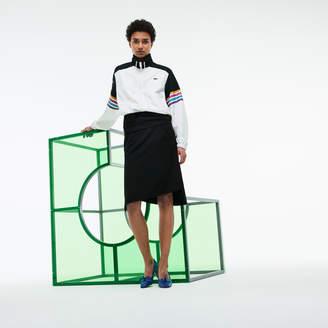 Lacoste (ラコステ) - FASHION SHOW アシンメトリカル ツイスト テクニカルタフタ スカート
