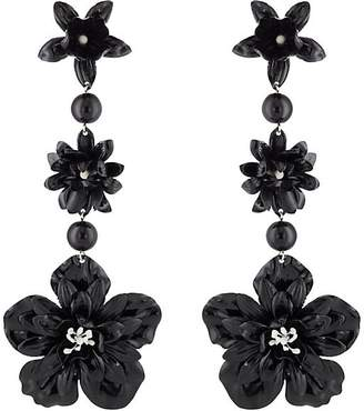 Women's Floral Triple-Drop Earrings